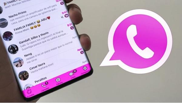 whatsapp plus rosado apk